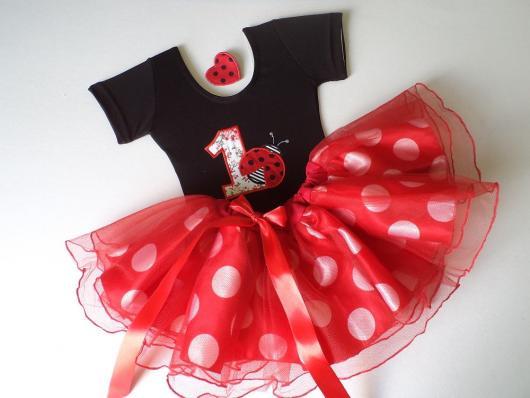 Vestidinho perfeito para a aniversariante vestir no dia da festa da joaninha