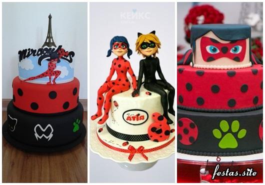 Fotos de Bolo Ladybug Decorado