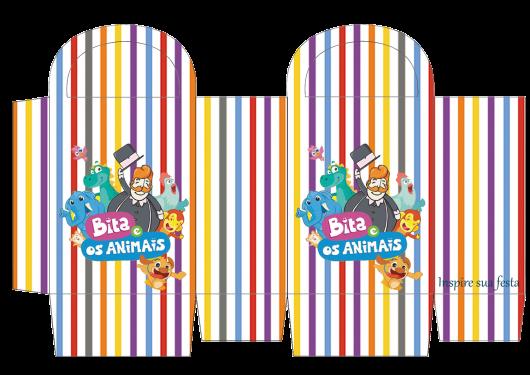 Kit Festa Mundo Bita para imprimir: caixinha para doces