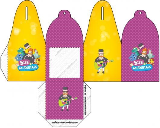 Kit Festa Mundo Bita para imprimir: caixinha