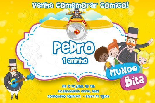 Convite Festa Mundo do Bita