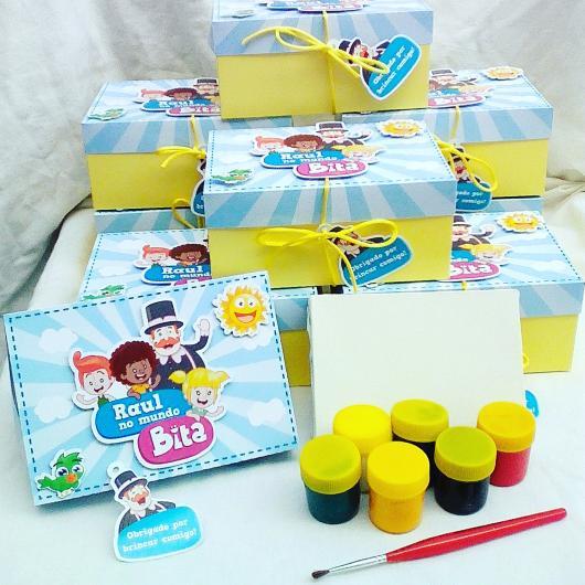 Lembrancinhas Festa Mundo do Bita: kit para pintar