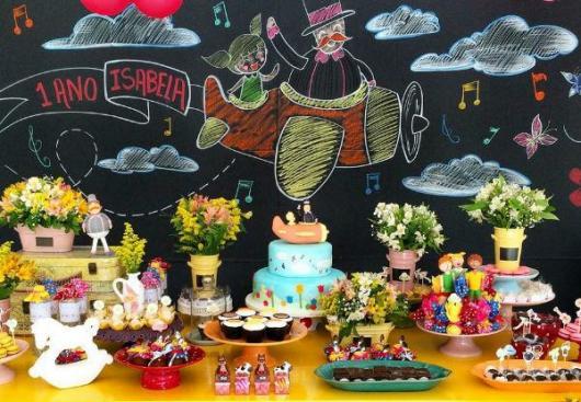 Festa Mundo Bita com painel de lousa