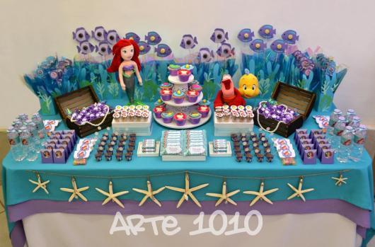 Festa Pequena Sereia Ariel 40 Dicas Com Inspirações Apaixonantes