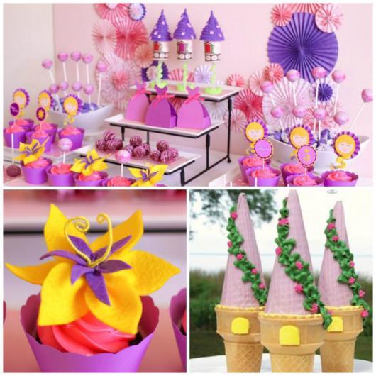 Festa Rapunzel modelos de lembrancinhas com doces
