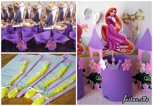 Festa Rapunzel modelos de lembrancinha