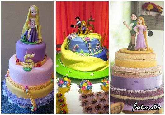Festa Rapunzel modelos de bolo