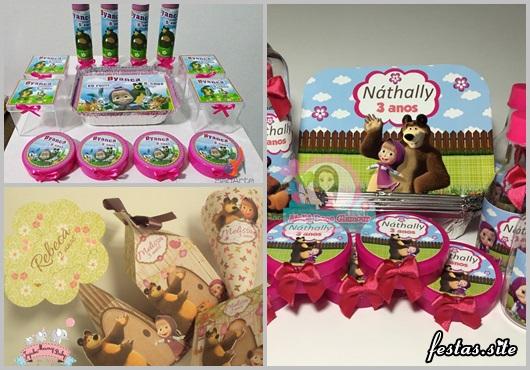 Modelos de Kit Festa Masha e o Urso