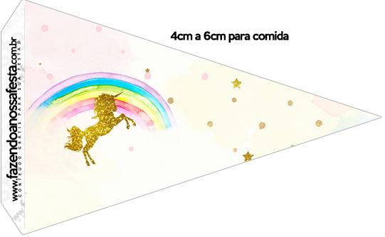 Kit Festa Unicórnio para imprimir grátis: cone para doces