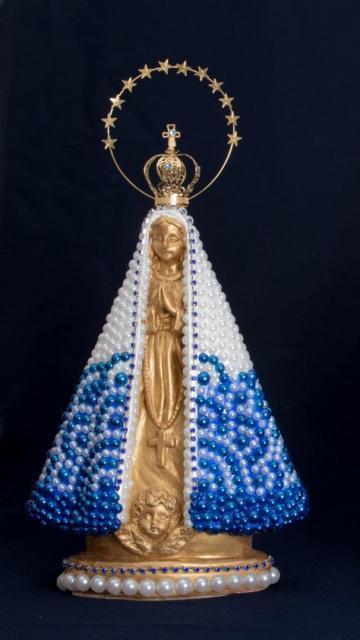 Lembrancinhas Fáceis de Fazer religiosas santa personalizada com meia pérola