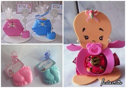 Lembrancinhas Fáceis de Fazer para chá de bebê porta bilhete, porta bombom e sabonete no formato de pézinho