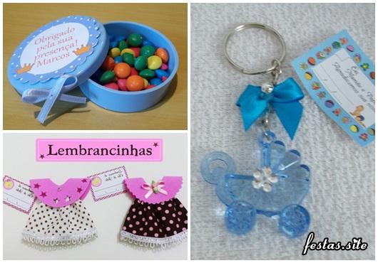 Lembrancinhas Fáceis de Fazer para chá de bebê latinha personalizada, mini vestido e chaveiro acrílico