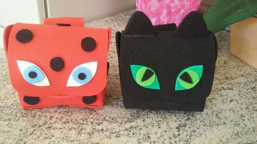 Lembrancinhas Ladybug mochila porta kit de pintura