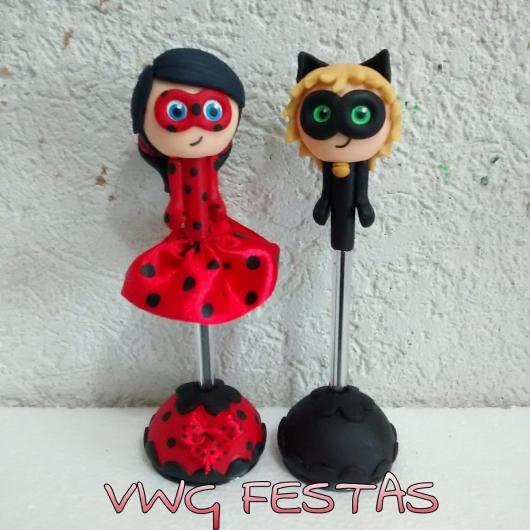 Lembrancinhas Ladybug em biscuit enfeite
