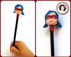 Lembrancinhas Ladybug em biscuit ponteira de lápis