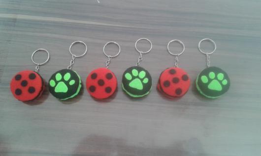 Lembrancinhas Ladybug em feltro chaveirinho