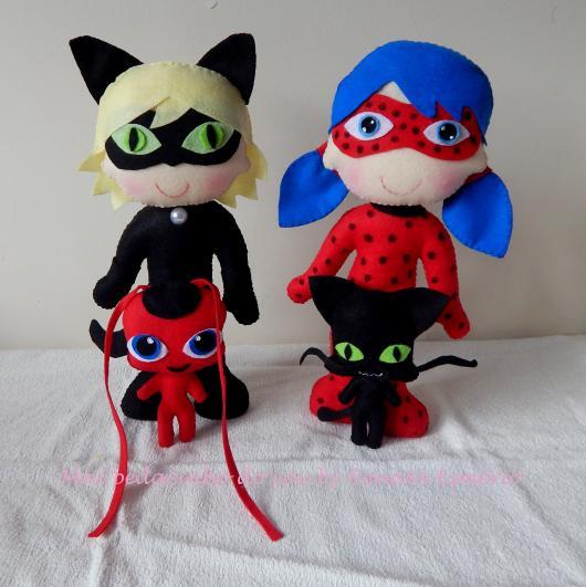 Lembrancinhas Ladybug em feltro miniaturas