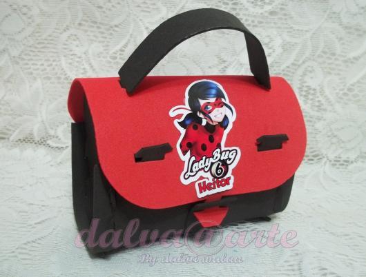 Lembrancinhas Ladybug maletinha de EVA