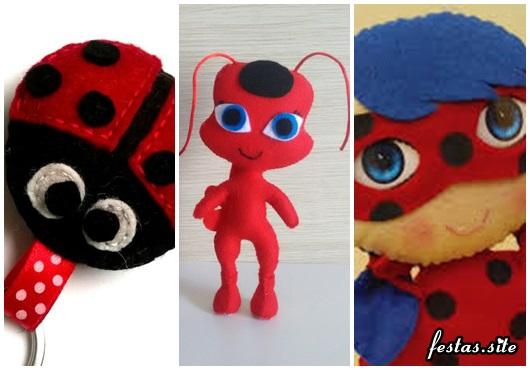 Ideias de Lembrancinhas Ladybug feltro