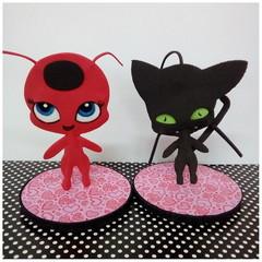 Lembrancinhas Ladybug miniatura de EVA