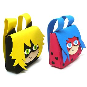 Lembrancinhas Ladybug com EVA mochila