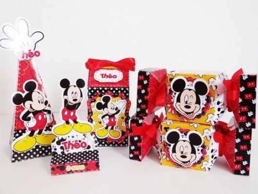 Lembrancinhas Personalizadas Mickey: caixinhas de papel