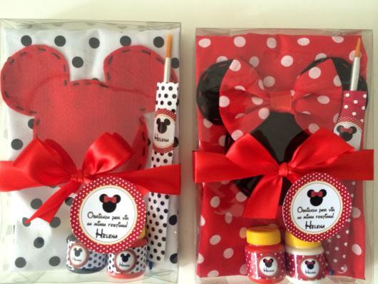 Lembrancinhas Personalizadas Mickey: kit para desenhar e pintar
