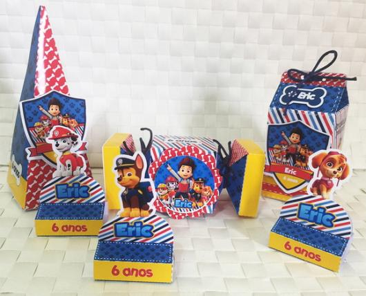 Lembrancinhas Personalizadas Patrulha Canina: embalagens para doces