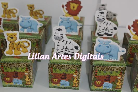 Lembrancinhas Personalizadas Safari: caixinha de papel