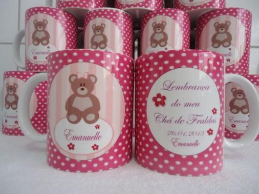 Lembrancinhas Personalizadas para Chá de Bebê: caneca de porcelana