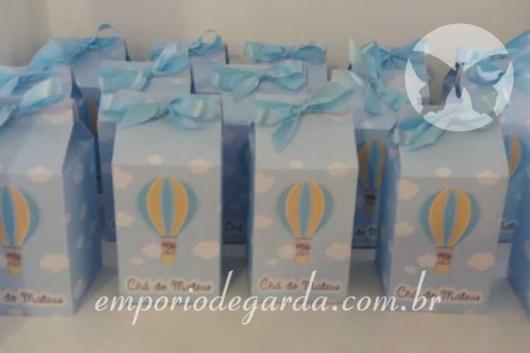 Lembrancinhas Personalizadas para Chá de Bebê: caixa de leite com tema balão