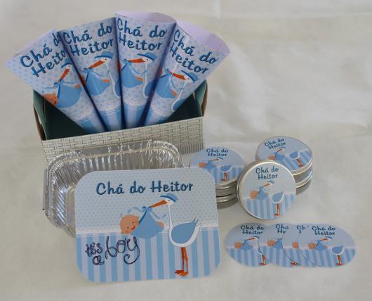 Lembrancinhas Personalizadas para Chá de Bebê com tema cegonha