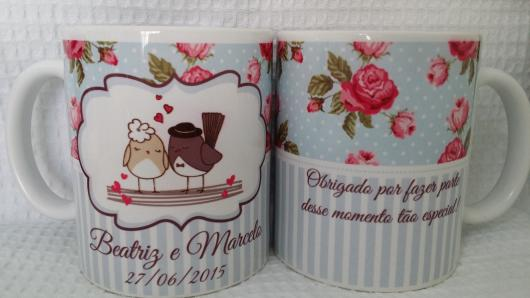 Lembrancinhas Personalizadas para Casamento: caneca de porcelana