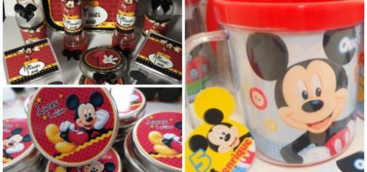 Fotos e Ideias de Lembrancinhas Personalizadas Mickey