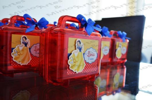 Lembrancinhas Personalizadas Branca de Neve: maleta de acrílico