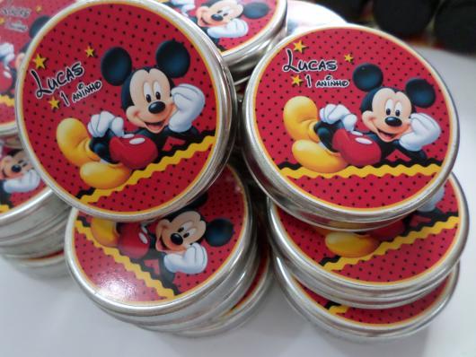 Lembrancinhas Personalizadas Mickey: latinha