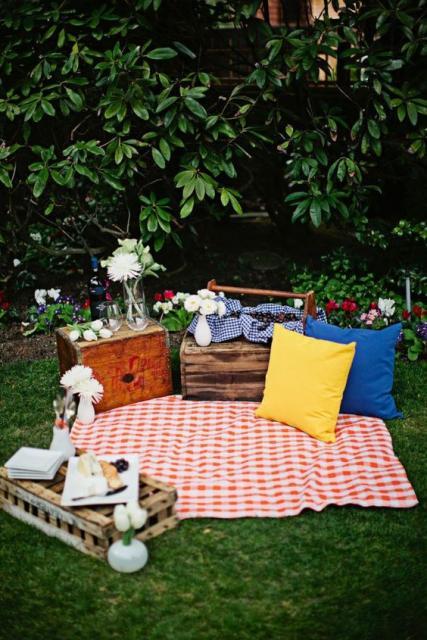picnic rústico