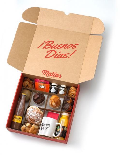 caixa surpresa com café da manhã