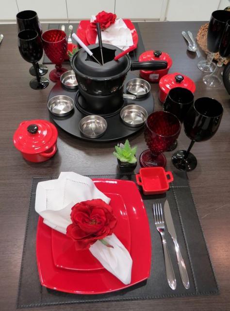 jantar romântico fondue