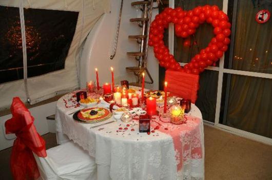 decoração jantar romântico