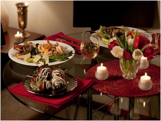 ideias para jantar romântico