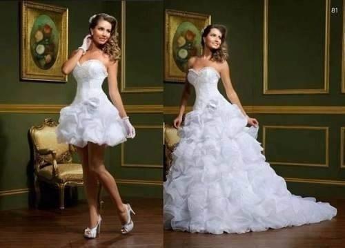 c14e84b3b Conheça diversas dicas de vestidos 2 em 1 brancos para debutantes: