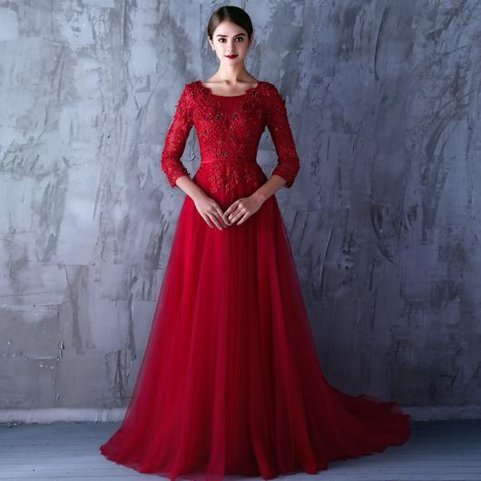 Vestido de Formatura Vermelho rodado
