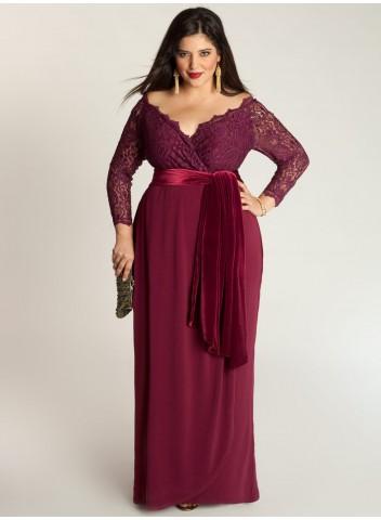 Vestido de Formatura Vermelho com laço