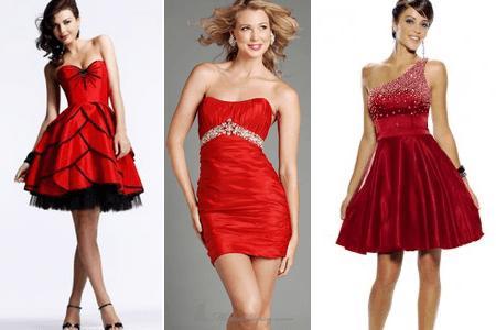 Vestido de Formatura Vermelho modelos curtos