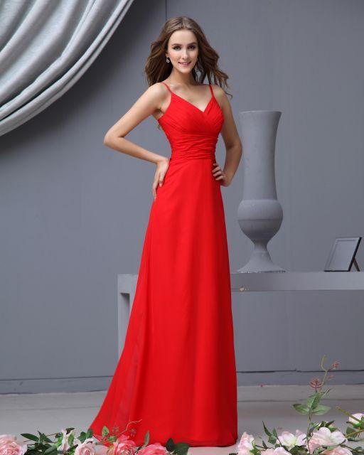 Vestido de Formatura Vermelho com alcinha