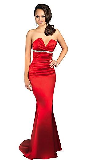 Vestido de Formatura Vermelho com brilho