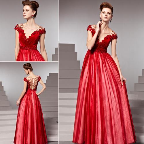 Vestido de Formatura Vermelho estilo princesa
