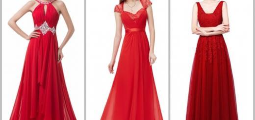 Vestido de Formatura Vermelho modelos longos