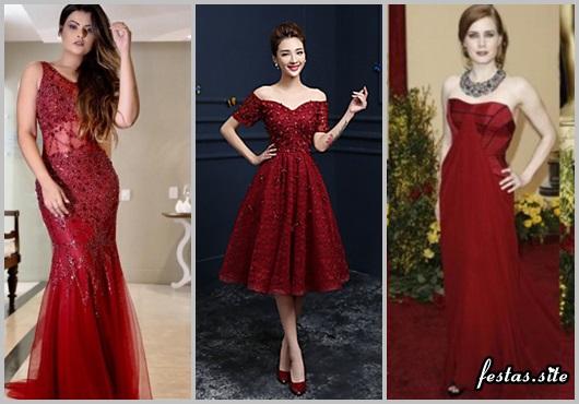 Vestido de Formatura Vinho modelos